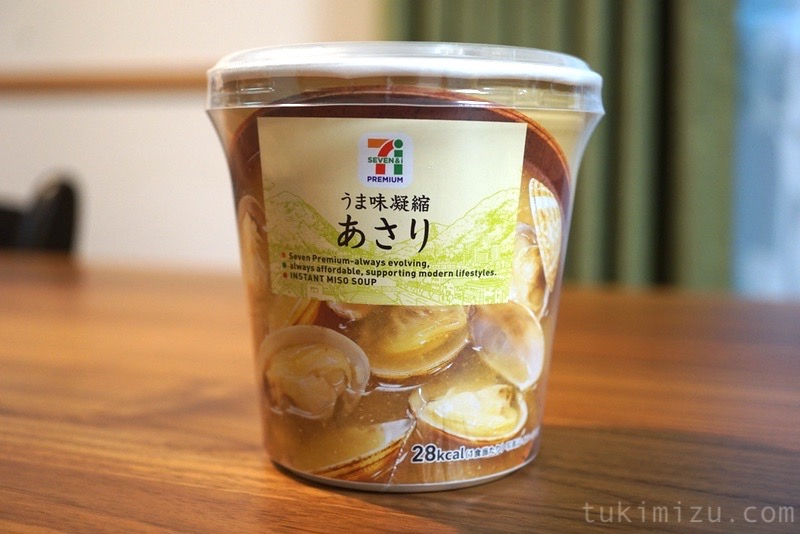セブンイレブンの味噌汁あさりのパッケージ